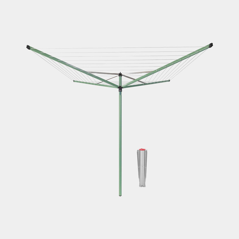 Brabantia Topspinner Droogmolen 50 Meter Met Metalen Grondanker - Leaf Green