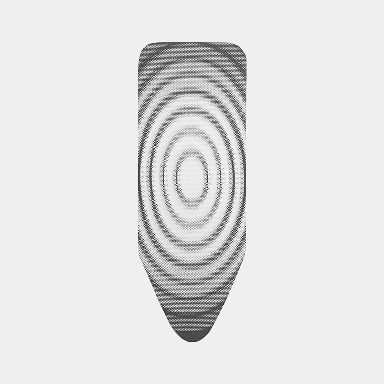 Brabantia Strijkplankhoes C, 124x45 Cm, Complete Set - Titan Oval