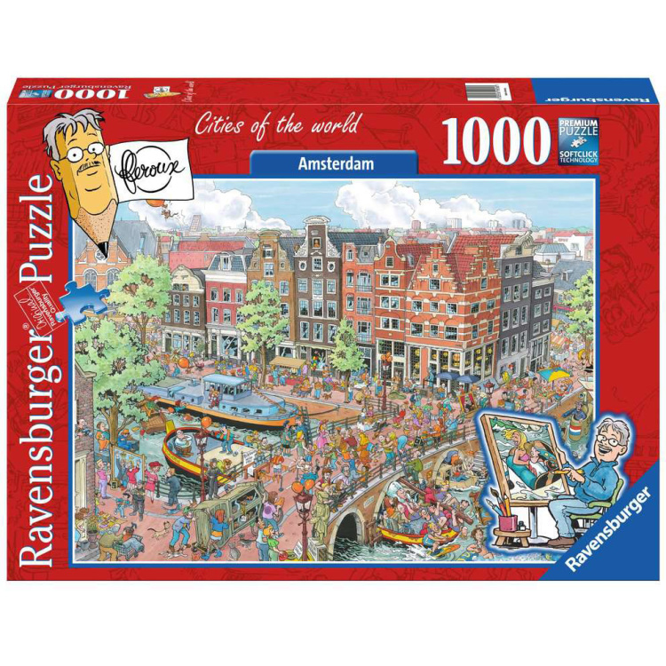 Ravensburger Fleroux - Amsterdam, cities of the world 1000 stukjes