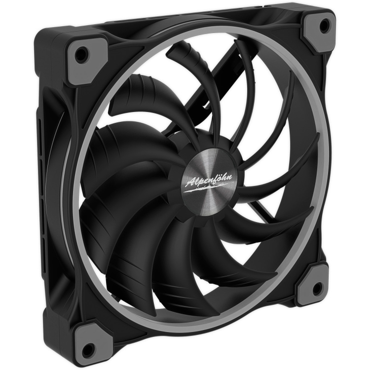 Alpenföhn Wing Boost 3 ARGB 140x140x25mm case fan 4-pin PWM aansluiting, 3-pin ARGB aansluiting