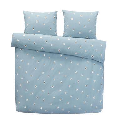 Comfort dekbedovertrek Juul - blauw - 200x200/200 cm - Leen Bakker