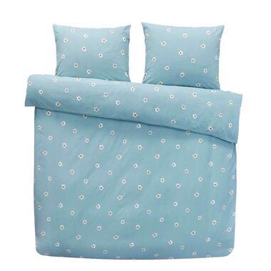 Comfort dekbedovertrek Juul - blauw - 240x200/200 cm - Leen Bakker