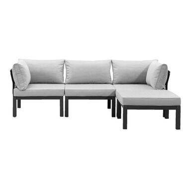 Le Sud modulaire loungeset Ardeche - lichtgrijs - 4-delig - Leen Bakker