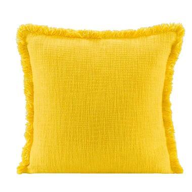 Sierkussen Luuk - geel - 45x45 cm - Leen Bakker
