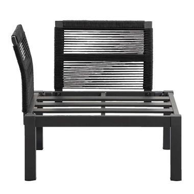Le Sud loungestoel hoekelement Ardeche - grijs - 78x78x66 cm - Leen Bakker