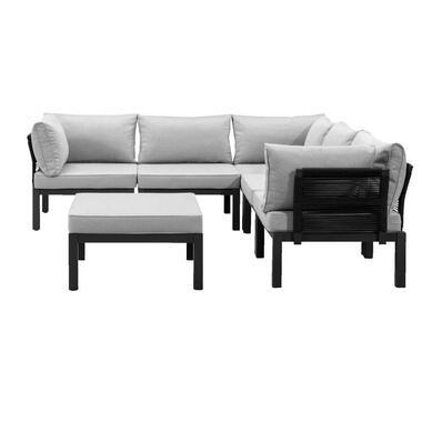 Le Sud modulaire loungeset Ardeche V2 - lichtgrijs - 6-delig - Leen Bakker