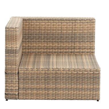 Le Sud loungestoel hoekelement Dordogne - taupe - 84x84x66 cm - Leen Bakker