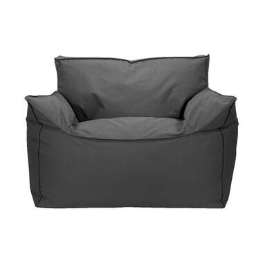 Lebel loungestoel Zofa - antraciet - 100x100x65 cm - Leen Bakker
