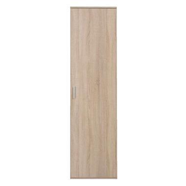 Kast Inca 1-deurs - eiken - 184x50x34,5 cm - Leen Bakker