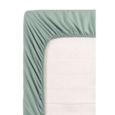 Ambiante hoeslaken - groen - 90x200 cm - Leen Bakker