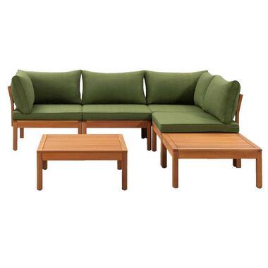 Le Sud modulaire loungeset Orleans V1 - groen - 6-delig - Leen Bakker