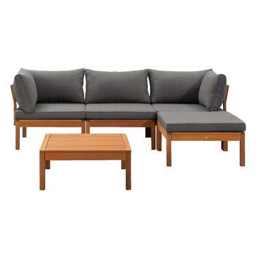 Le Sud modulaire loungeset Orleans V1 - donkergrijs - 5-delig - Leen Bakker