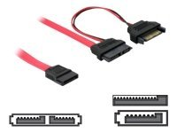 SATA Slimline ALL-in-One cable - SATA-kabel - Serial ATA 150 - Slimline SATA (V) naar SATA, SATA-voeding - 50 cm