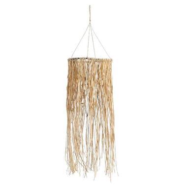 Hanger Christof Raffia - bruin - 77x29 cm - Leen Bakker