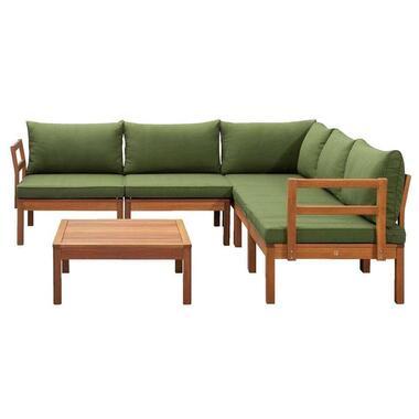 Le Sud modulaire loungeset Orleans V2 - groen - 6-delig - Leen Bakker