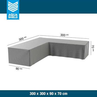 Aquashield loungesethoes L-vorm - 300x300x90x70 cm - Leen Bakker