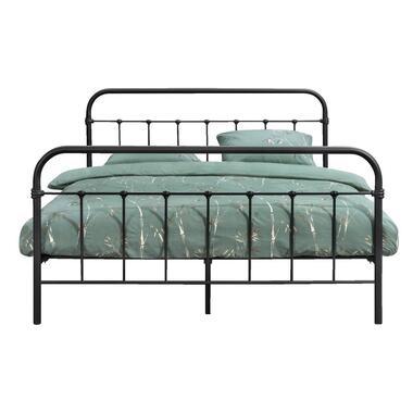 Bed Anne - mat antraciet - 160x200 cm - Leen Bakker
