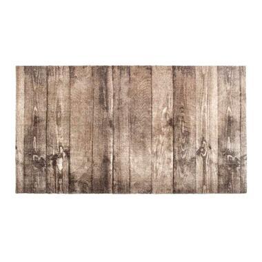 Mat Universal Oak Wood - bruin - 67x120 cm - Leen Bakker