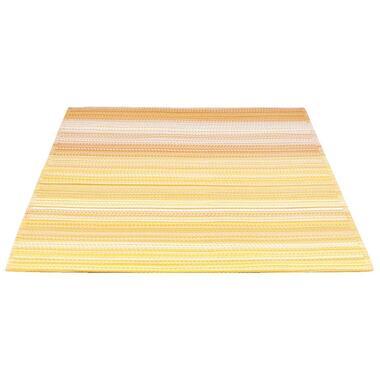 Vloerkleed Sunset - geel/wit - 160x230 cm - Leen Bakker