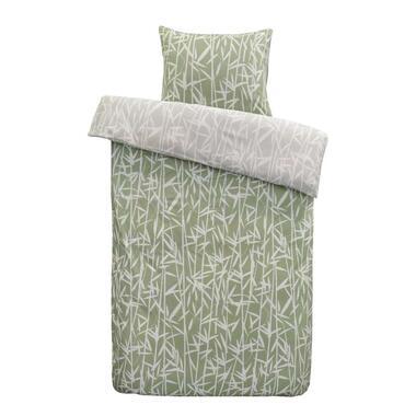 At Home by Beddinghouse dekbedovertrek Rustle - groen - 140x200/220 cm - Leen Bakker