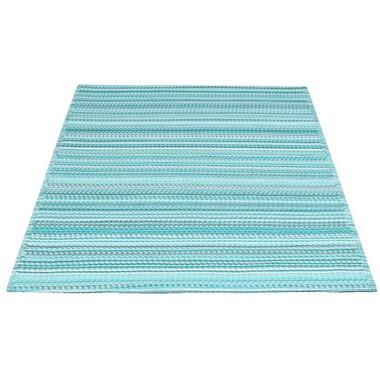 Vloerkleed Sunset - blauw/wit - 120x180 cm - Leen Bakker