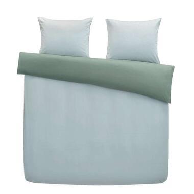 At Home by Beddinghouse dekbedovertrek Gentle - blauw/groen - 240x200/220 cm - Leen Bakker