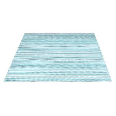 Vloerkleed Sunset - blauw/wit - 160x230 cm - Leen Bakker