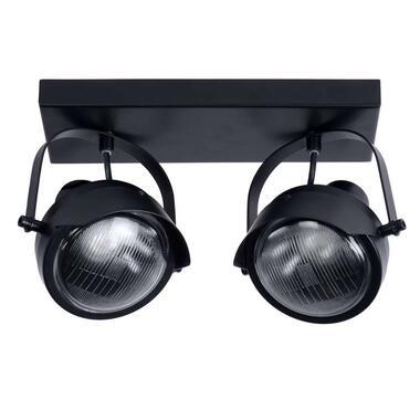 Lucide plafondspot Cicleta 2 lichts - zwart - Leen Bakker