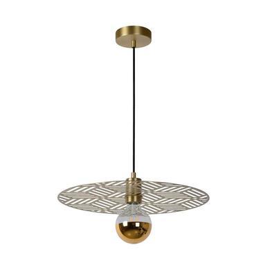 Lucide hanglamp Olenna - mat goud/messing - Leen Bakker