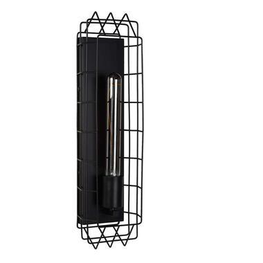 Lucide wandlamp Lattice - zwart - Leen Bakker