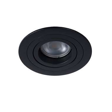 Lucide inbouwspot Tube - zwart - 9 cm - Leen Bakker