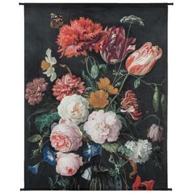 Wandpaneel Bloemen - multikleur - 170x140 cm - Leen Bakker