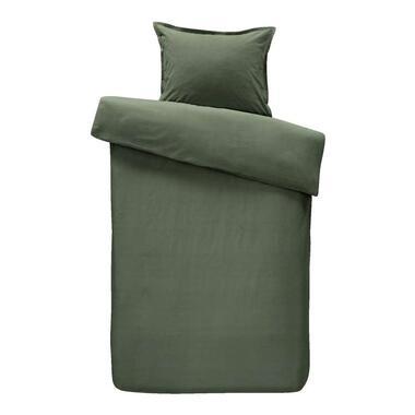 Walra dekbedovertrek Just A Colour - groen - 140x200/220 cm - Leen Bakker