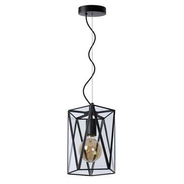 Lucide hanglamp Fern 1 - zwart - Leen Bakker