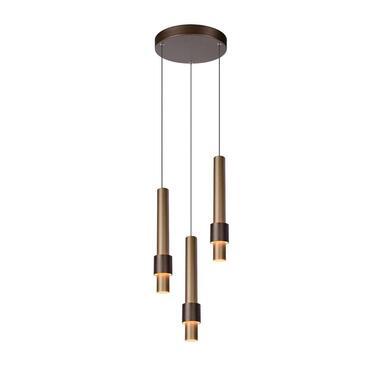 Lucide hanglamp Margary - koffie - 28 cm - Leen Bakker