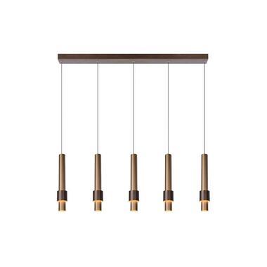 Lucide hanglamp Margary - koffie - Leen Bakker