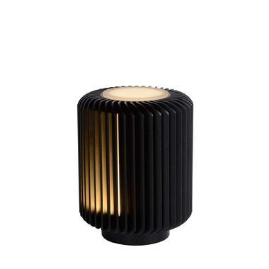 Lucide tafellamp Turbin - zwart - 10 cm - Leen Bakker