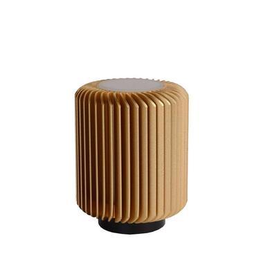 Lucide tafellamp Turbin - mat goud - 10 cm - Leen Bakker