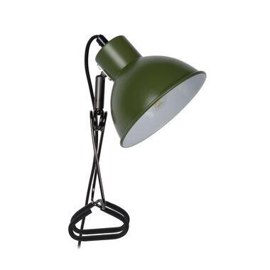 Lucide klemlamp Moys - groen - Leen Bakker