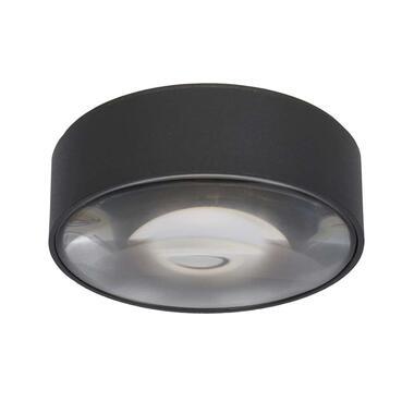 Lucide badkamerplafondspot Rayen - zwart - 10 cm - Leen Bakker