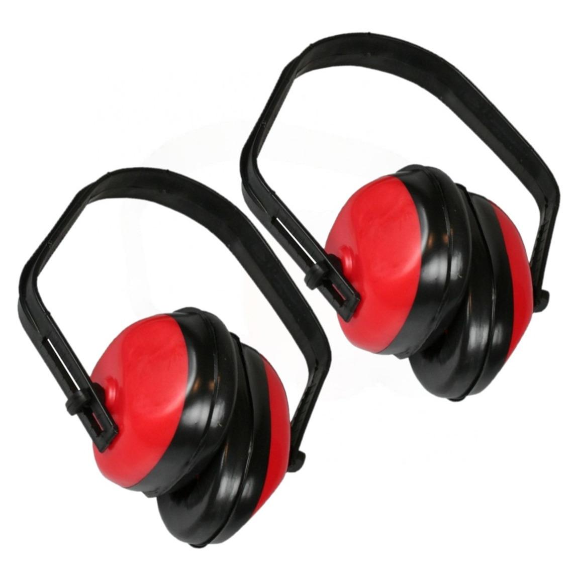 Pakket van 2x stuks gehoorbeschermers rood met CE keurmerk -