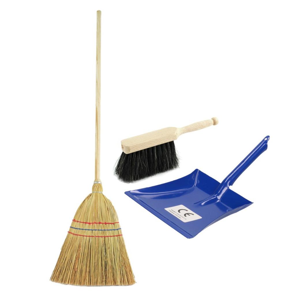 Kinder schoonmaak set 3-delig blauw -