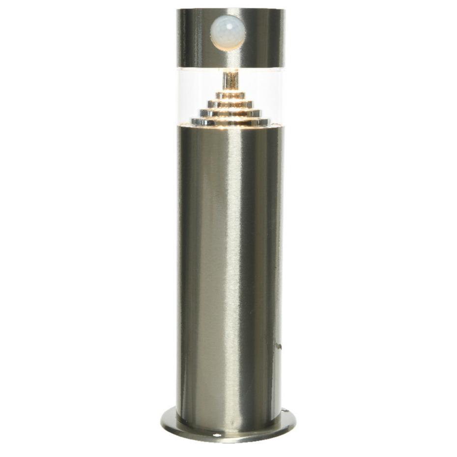 Solar tuinlamp/prikspot met bewegingssensor cilinder op zonne-energie 30 cm -