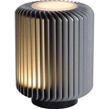 Lucide tafellamp Turbin - grijs - 10 cm - Leen Bakker