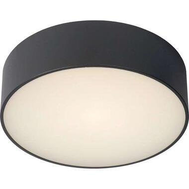 Lucide badkamerplafondlamp Roxane - antraciet - 25 cm - Leen Bakker