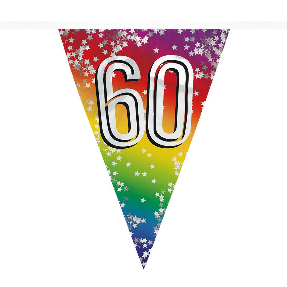 Vlaggenlijn 60 jaar versiering vlaggetjes slinger 6 meter -