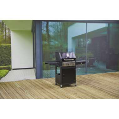 Outdoor Covers barbecue hoes - grijs - 195x65x110 cm - Leen Bakker