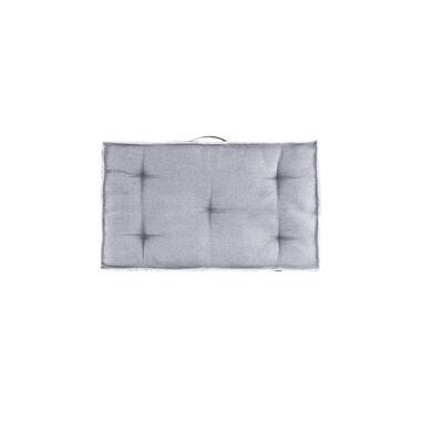 Palletkussen Lucca rug/hoek - antraciet - 40x70 cm - Leen Bakker