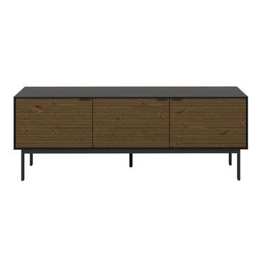 TV-meubel Aron - bruin/zwart - 54x150x41 cm - Leen Bakker