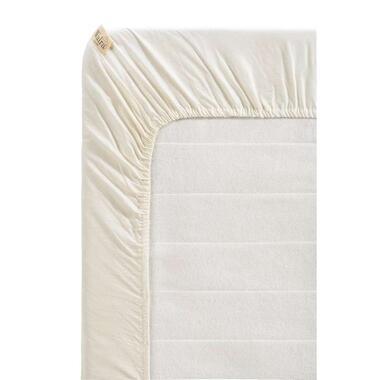 Walra hoeslaken Remade - off-white - 90x220 cm - Leen Bakker